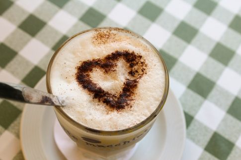 What is a Macchiato, heart drawing on top of a Macchiato