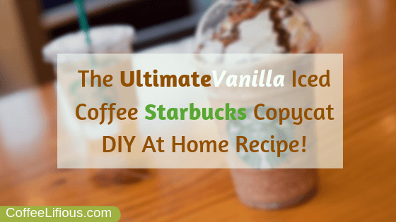 Vanilla iced coffee Starbucks