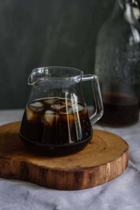 What is cold brew coffee, glass pitcher filled with coffee