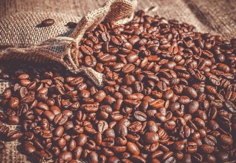 Best espresso beans, an open bag of coffee beans