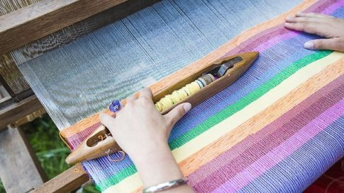 How to make coffee without a filter, weaving loom - cotton cloth