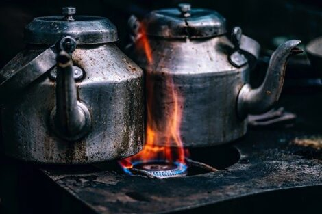 How to clean a stainless steel coffee pot, burnt stainless steel coffee pot