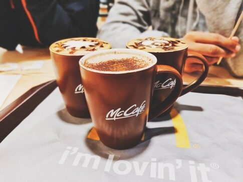 What kind of coffee does McDonald's use, 3 cups of McCafe