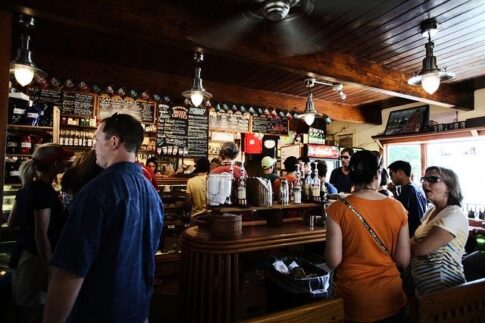 How much do coffee shop owners make, customers in a coffee shop