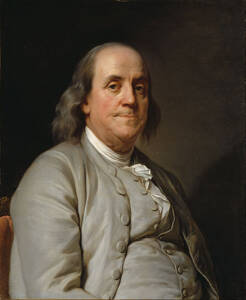 CoffeeLifious About page, Benjamin Franklin portrait