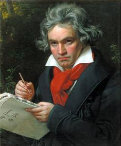 CoffeeLifious About page, Ludwig van Beethoven portrait
