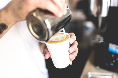 What is a latte, barista making latte art