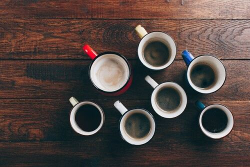 What is Keto coffee, many different similar cups of coffee